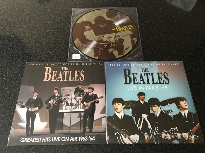 The Beatles - Lot Of 3 Records -  2 Coloured En 1 Picture Record