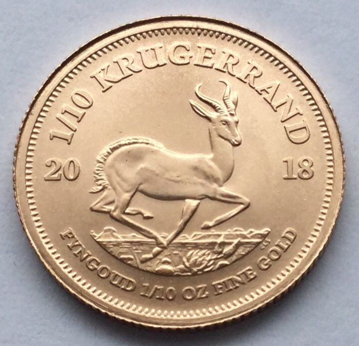 South Africa - 1/10 Krugerrand 2018 - 1/10 oz - Gold