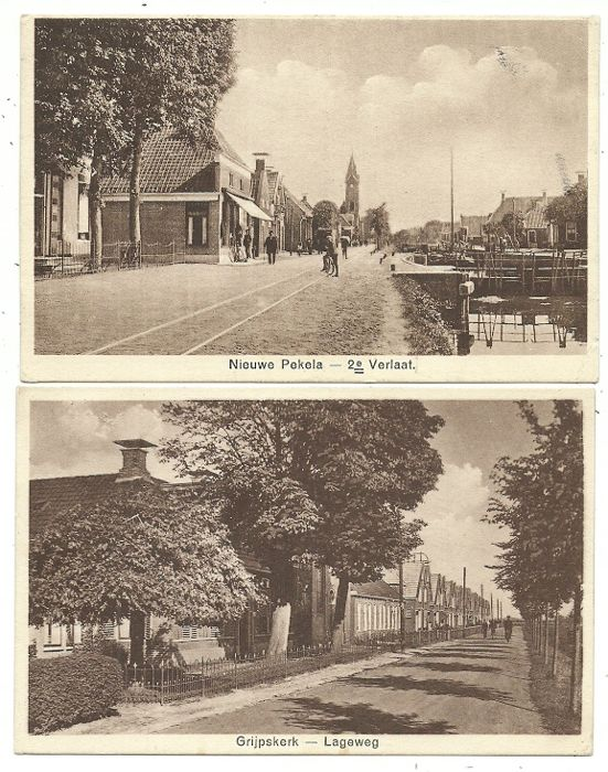 Lot with postcards of Dutch villages and towns, 86x