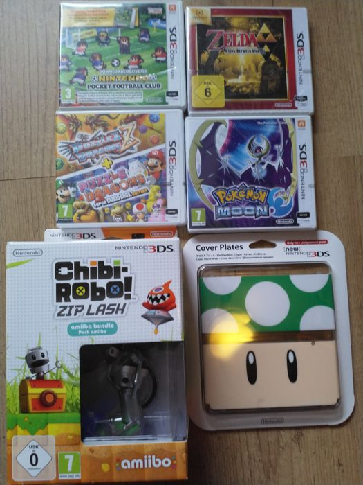 Lot of 5 Nintendo 3DS games + New Nintendo 3DS coverplate ...