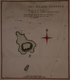 Australia, Pacific, Norfolk; James Cook - Het eiland Norfolk - ca. 1797