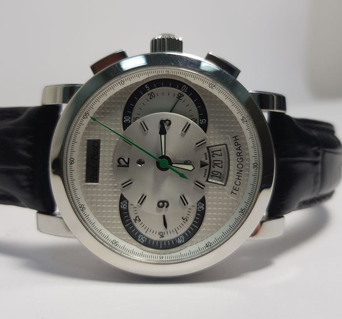 Paul Picot - Technograph Wild 44 mm - P0334-2Q.SG.A3201 - Heren - 2011-heden