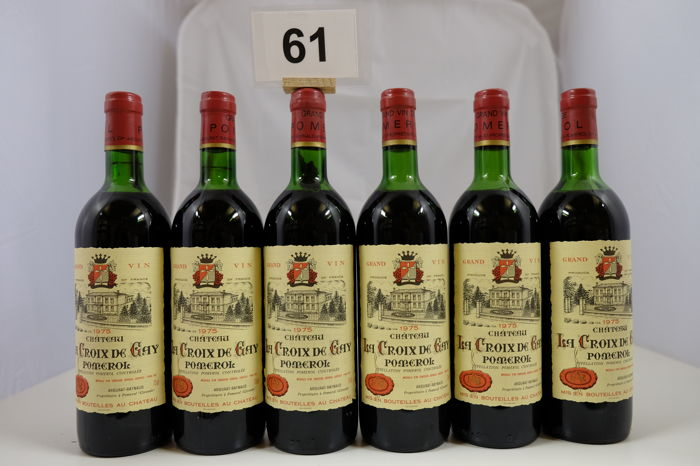 1975 Chateau La Croix de Gay, Pomerol, France 6 bottles