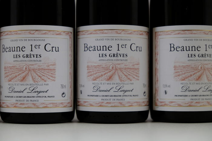 2012 Beaune Premier Cru Les Greves, Daniel Largeot x 6 Bottles.