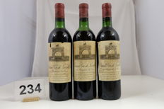 1971 Chateau Leoville-Las Cases 'Grand Vin de Leoville' Saint-Julien Deuxieme Grand Cru Classe France 3 Bottles