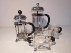 Bodum - complete French press set: 2 French presses, milk jug and sugar bowl