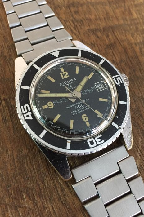 Sicura - 400 Super Waterproof - Diver - Swiss - 23 Jewels - Herren - 1960-1969