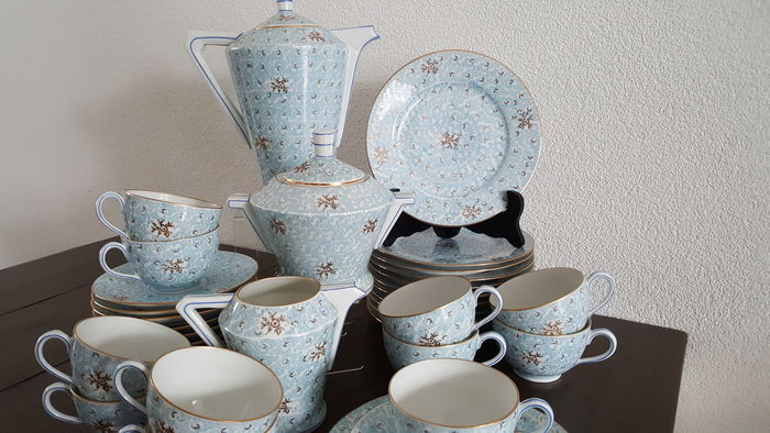 UC Limoges, porcelain coffee set, Art Deco
