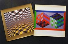 Victor Vasarely - Hommage a L, Hexagone y Cinetiques