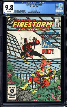 DC Comics - Fury Of Firestorm #28 CGC Graded 9.8 - (1984)