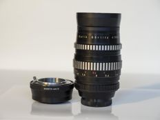 Lens Meyer-Optick Orestor 135mm 2.8 with lens adapter exakta to olympus m 4/3