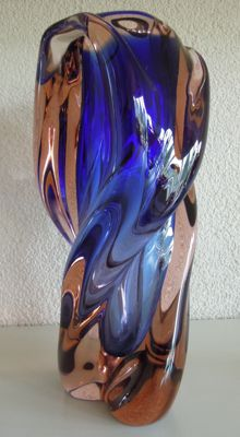 Josef Hospodka Chribská glassworks - crystal vase
