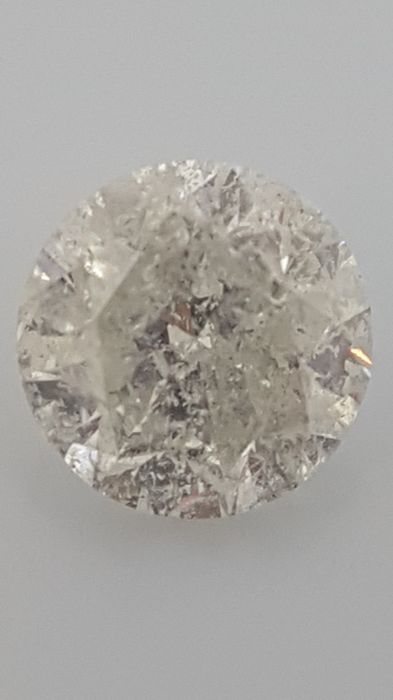 2.10 ct - Round Brilliant - White - F / I1