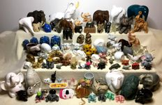 Large collection of 96 elephants