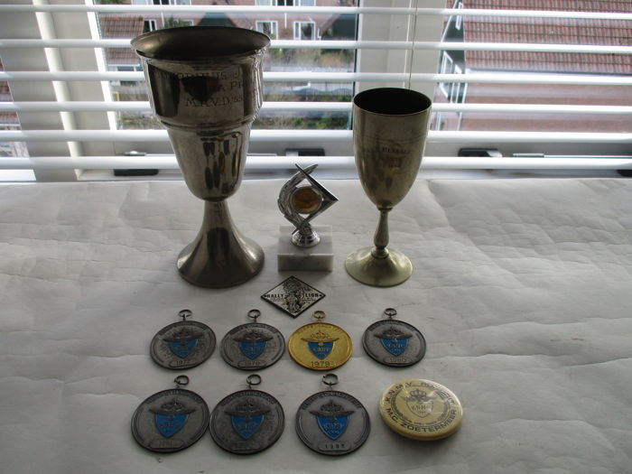 Set of trophies, medals - Motorcycle racing, the Netherlands, 1955 - 1987