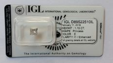 "1.15ct Natural Diamond - E I1 ""IDEAL SHAPE""  IGL Lab report -NO RESERVE"