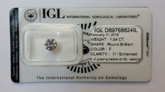 "1.04ct Natural Diamond - H I1  ""IDEAL CUT""  IGL Lab report -NO RESERVE"