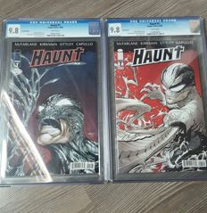 Haunt  #1  - x2 Graded Variants - Todd McFarlane / Greg  Capullo - Original Edition (2009)