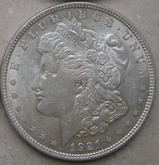 United States - dollar (Morgan) 1921 - silver