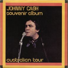 Johnny Cash / Sun records - Australian TOUR Rare 1973 souvenir 2 LP