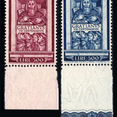 Vatican City, 1951 - 'Graziano' Airmail complete series - Sass.  No. A20/21