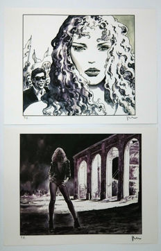 "Manara, Milo - 2x prints from the portfolio ""Revoir les etoiles"" (1997)"
