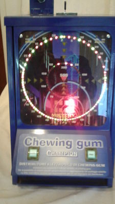 """My Champion"" chewing gum vending machine made by Mytechn srl Milan, Italy - 2000"