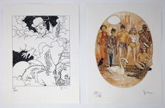 "Manara, Milo - 2x prints from the portfolio ""Pin Ups"" (2004)"