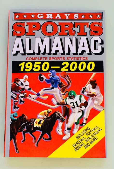 Back to the Future -  Gray Sports Almanac ( 156 pages ) Complete Sports Statistics 1950-2000 - Mint Condition - Replica