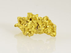 Natural Gold Nugget - 13.8 x 7.6 x 5.8 mm - 1.5 g.