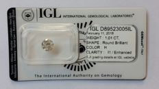 "1.01ct Natural Diamond - H I1  ""IDEAL CUT""  IGL Lab report -NO RESERVE"