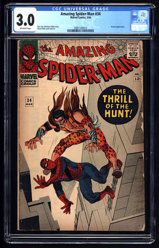 Marvel Comics - Amazing Spider-man #34 - CGC GRADED 3.0 - (1966)