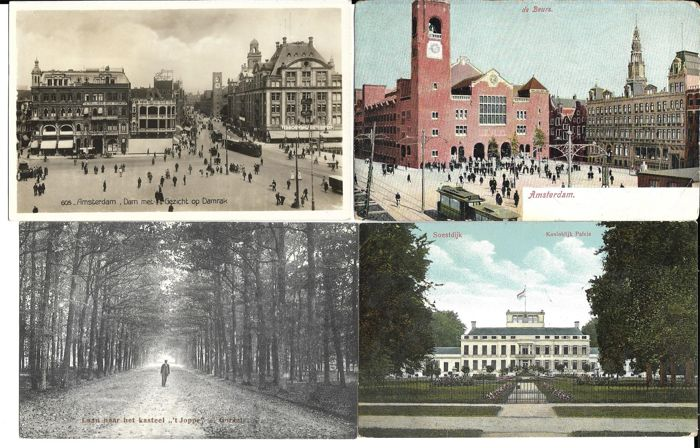The Netherlands, 280 postcards, small format, both black/white and colour, circulated and uncirculated.