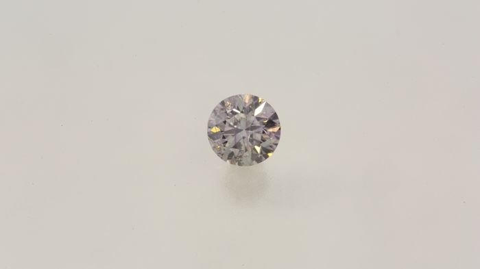 0.19ct Very Rare Natural Round Cut Diamond Very Light Pink I1