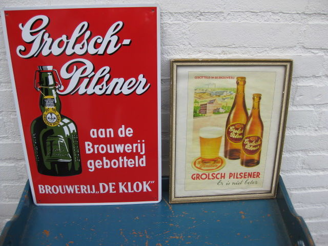 Lot of old advertising signs
