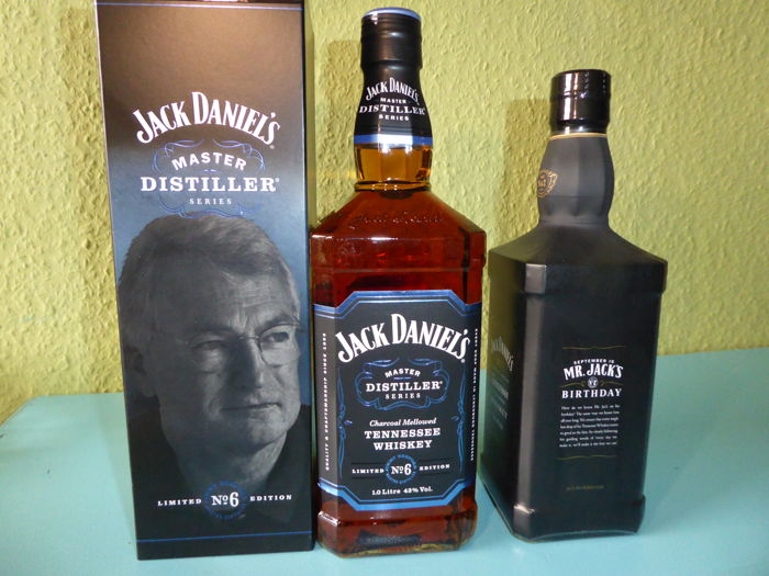 2  bottles - Jack Daniel's Master Distiller No6 1L & Birthday Edition 2011 0,7L