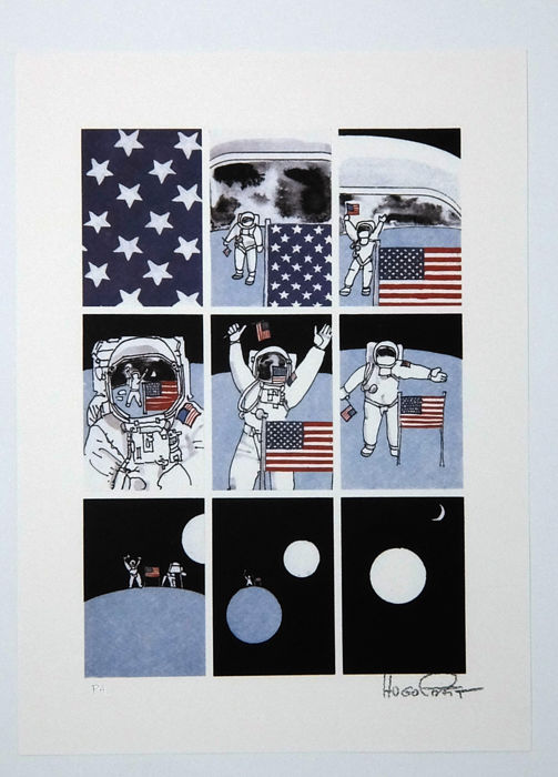 "Pratt, Hugo - print from the portfolio ""Lune"" with slipcase (1986)"