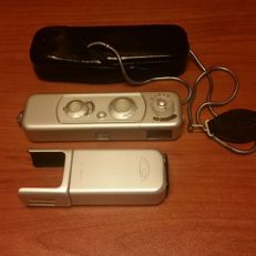 Minox B Camera with chain,case and Flash.