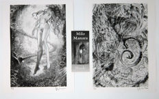 "Manara, Milo - 2x prints from the portfolio ""Iliade"" (2006)"