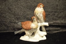 Karl Ens Volkstedt - Pair of Sparrowhawks