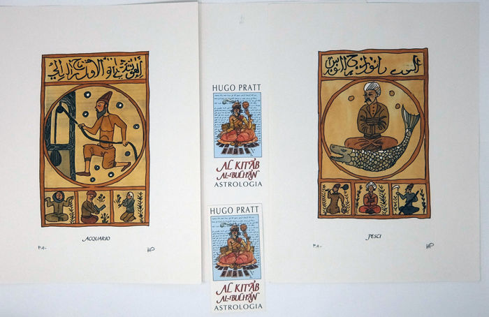 "Pratt, Hugo - 2x prints from the portfolio ""Astrologia"" (1988)"