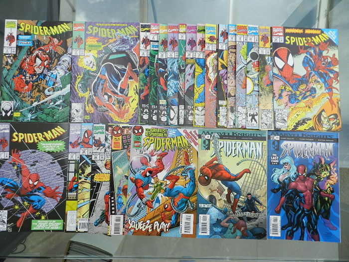 Spider-Man Set with Spider-Man 22 issues, Ultimate Spider-Man 10 issues, Web of Spider-Man Vol.1. 18 issues and more  - 72x sc (1990-2007)