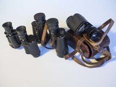 3 pairs of binoculars Hartmann Optik, F.B.A Berlin and Beck Kassel CBS