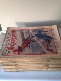 Every boy's weekly, The Scout (founded by the Chief Scout) - 96 softcover magazines - (1931/1933)