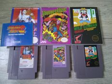 Lot of 3 rare Nintendo NES games - Megaman 2, Boulderdash, Wild Gunman