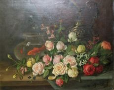 Hollandse school (20e eeuw)  - Still life of Flowers