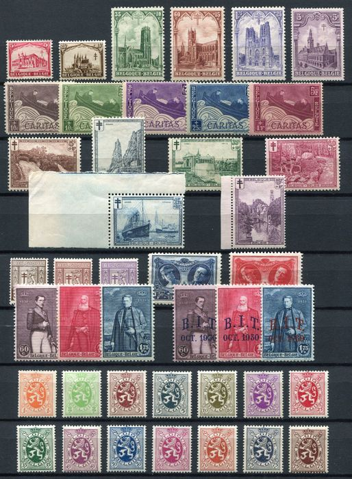 Belgium 1926/1930 - selection of 7 series - OBP 240/307