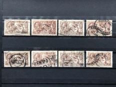 Great Britain, King George V 1913/1918 - Sea Horses, small collection.