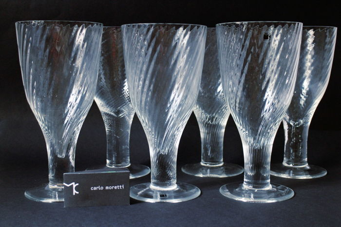 Carlo Moretti - Set 6 flute Cocktail Glasses