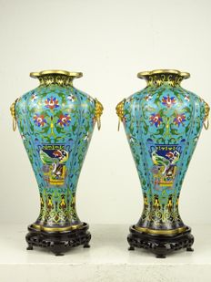 Lobed Meiping vases - China - Second Half of 20th Century